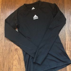 Adidas Climalite long sleeve training tee black